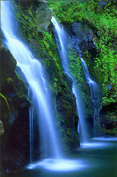 Beautiful waterfalls in paradise.